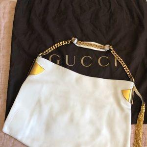 Authentic Gucci white leather purse